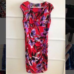 Red floral Ralph Lauren Dress